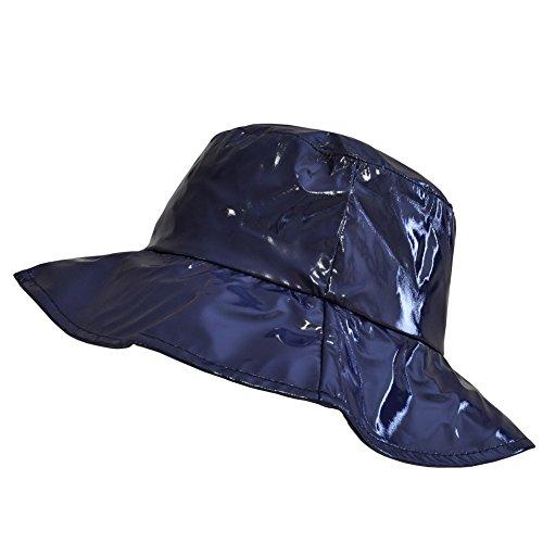 TOUTACOO, Cappello da Pioggia, Cappellino da Donna in Vinile Blu