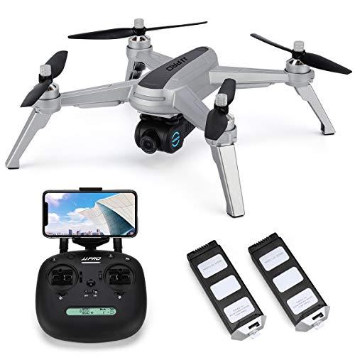 INKPOT JJRC JJPRO X5 Wifi Drone GPS con videocamera HD Video live e GPS Ritorno a casa Quadricottero con motore brushless e videocamera regolabile a 90 , Seguimi, Distanza di controllo lunga (grigio)