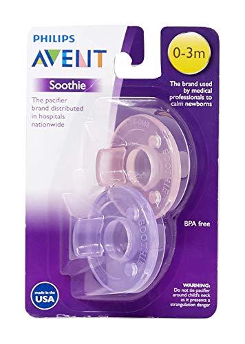 Avent - 2x Soothie Baby Schnuller, 0-3 Monate, Rosa/Lila - aus den USA