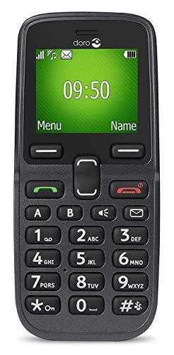 Doro 5030 GSM Mobiltelefon (Großes beleuchtetes Farbdisplay, Schriftgröße der Displayanzeige einstellbar) graphit