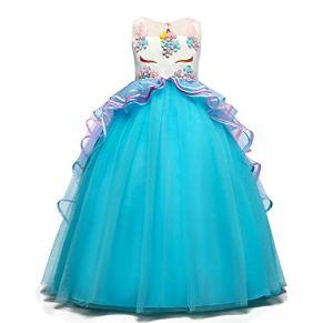 TTYAOVO Vestido Elegante de Fiesta Ceremonia para Niñas Vestido Formal de Niña Bautizo Princesa Boda Vestido de…