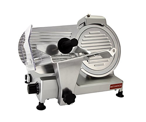 BESWOOD 10' Premium Chromium-plated Carbon Steel Blade Electric Deli Meat Cheese Food Slicer Commercial and for Home use 240W BESWOOD250