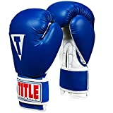 Title Classic Pro Style Training Gloves 3.0, Blue/White, 16 oz