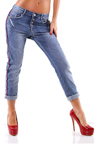 OSAB-Fashion 4411 Damen Jeans Karostar by Lexxury Hose Boyfriend...