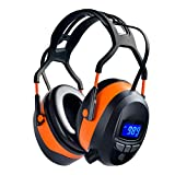 UPGRADED Bluetooth FM Radio Safety Ear Muffs Headphones for Gunshooting Mowing, Wireless Noise Cancel NRR 29dB Protection Earmuffs with Built-in Mic, LCD Display, Rechargeable Battery