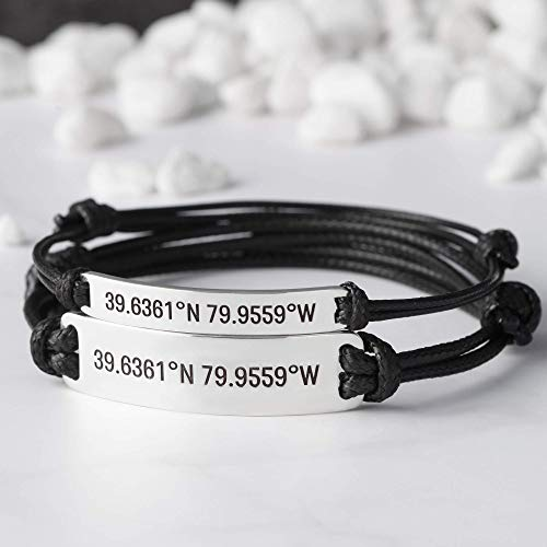 Coordinate Bracelet For Couples, Couples Bracelets...