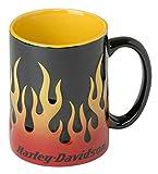 ハーレーダビッドソンCore Sculpted Flamesコーヒーマグ、15オンス–ブラックhdx-98604