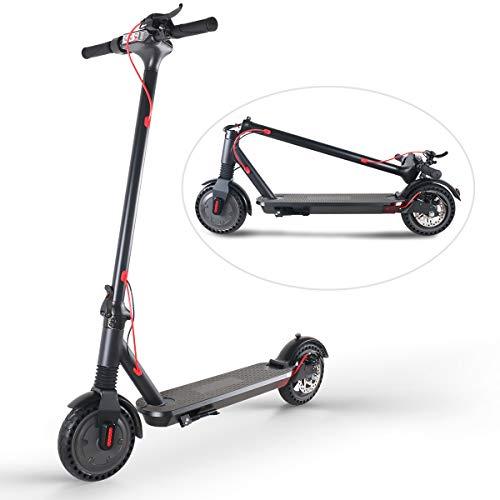 Trottinette Electrique Pliable, Gyroboarder Scooter Adulte, Jusqu'à 25km/h, 20km Autonomie 36V/6Ah Batterie, Enfants Cadeau (Noir)