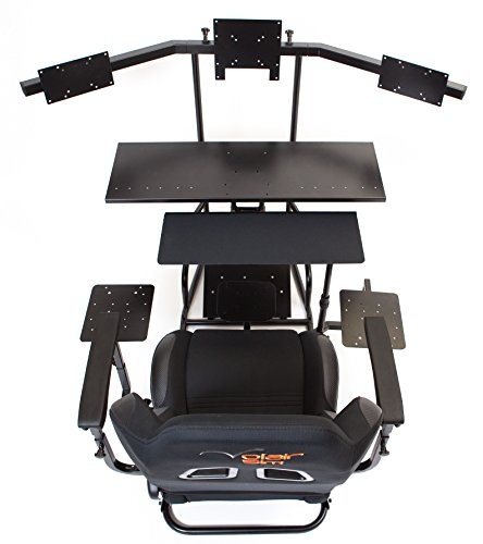 Volair Sim Universal Flight or Racing Simulation Cockpit Chassis with Triple Monitor Mounts 7