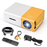 Mini Projector, Meer Portable Pico Full Color LED LCD Video Projector for Children Present,...