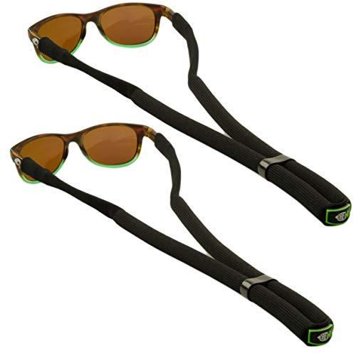 DriftFish Floating Sunglass Strap | Float Your Eyeglasses and Sunglasses| Glasses Float Adjustable Eyewear Retainer | Includes 2 Floatable Lanyards, Black