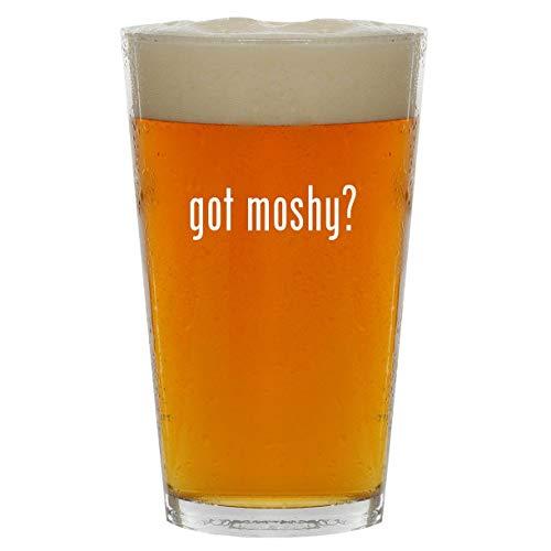 got moshy? - 16oz Clear Glass Beer Pint Glass