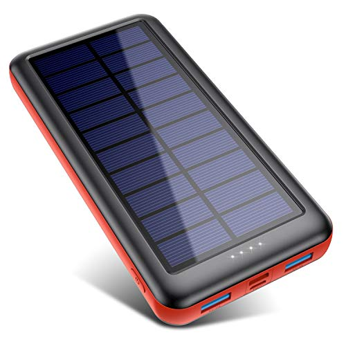 SWEYE Batterie Externe Solaire 26800mAh【Type-C Charge Rapide】, Chargeur...