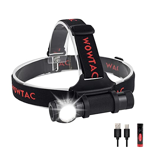 WOWTAC A2S V2 USB Rechargeable Cree LED Headlamp Detachable, 1000 Lumens Compact Waterproof Headlamp Versatile Brightness Camping Headlamp Flashlight-Cool White