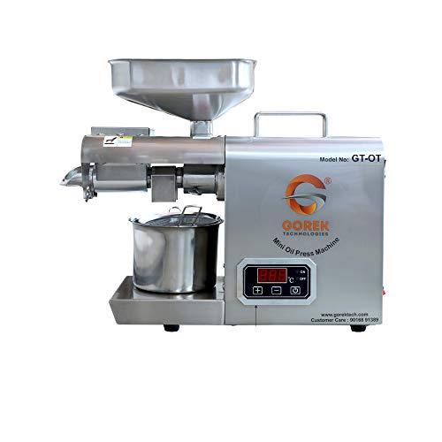 Gorek Technologies GT-OT 600-Watt Oil Press/Maker Machine With Simplified Digital Temperature...