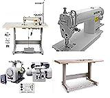 Industrial Sewing Machine Zoje 8700 Lockstitch Sewing Machine Servo Motor + Table Stand Cut Juki DDL+ LED Lamp Commercial Grade Sewing Machine
