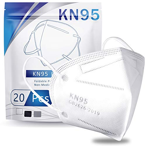 Hotodeal Disposable N95 Face Mask (Without Valve, Pack of 5) for Men & Women