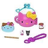 Sanrio Hello Kitty Coffret Compact Chocolat Chaud avec 2mini-figurines, crayon, carnet de notes et accessoires, jouet pour enfant, GVB29