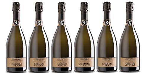 Confezione 6 Bottiglie DURELLO LESSINI DOC | Spumante Doc Brut DURELLO dei Monti Lessini da 75 cl | Cantina Torre dei Vescovi | Colli Vicentini