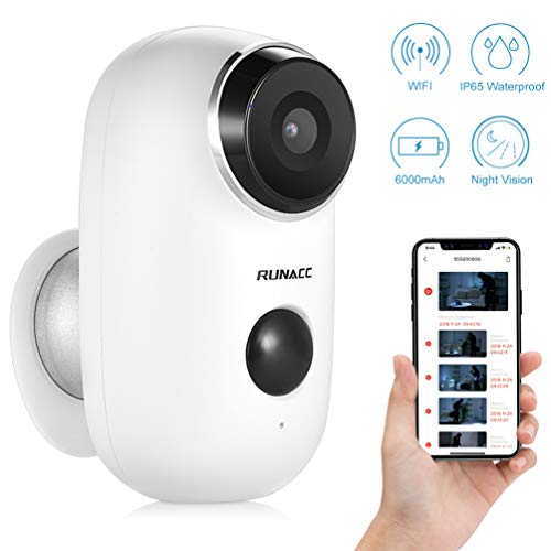 RUNACC Wireless Security Camera, Home WiFi Camera System Indoor Outdoor with 2-Way Audio Talk WiFi Camera Night Vision Function