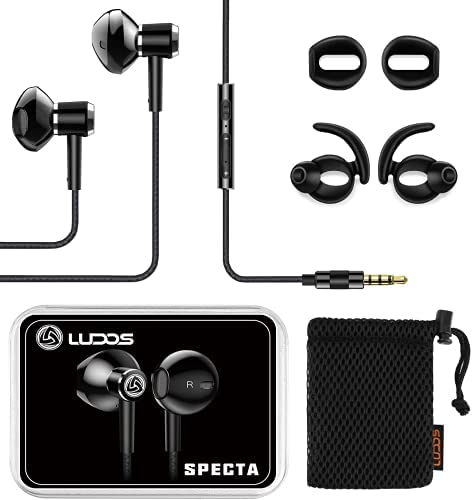Earbuds-Earphones-Headphones-in-Ear, LUDOS SPECTA Wired Earbuds, Universal Microphone for Clear Calls, Strong Bass, Sound-Dynamic, Earphones for iPhone, Xiaomi, Samsung, Huawei, Computer 16