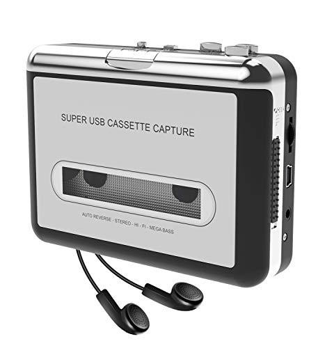 DigitNow! Kassette zu MP3 Konvertierer und Player mit PC, tragbarer USB Kassettenspieler to MP3 converter