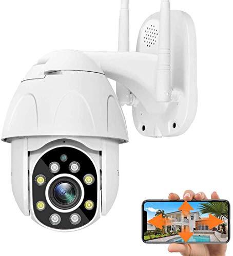 Ptz Camera Wifi IP Camera Videocamera di Sorveglianza Esterno Senza Fili PTZ con Rilevamento del Movimento Visione Notturna IP66 Impermeabile Audio a 2 Vie