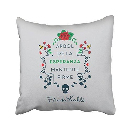 ymot101 Frida Kahlo Arbol De La Esperanza Fundas de Cojín 18 x 18 Manta Fundas de Almohada Decoración del Hogar para Salón Sofá Couch Cumpleaños Navidad Regalos