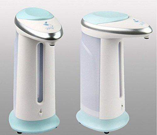 SHENGHUAJIE Dispensador de jabón líquido de jabón desinfectante Manos Libres sin Contacto de 400 ml con Sensor automático