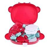 WANBAO Kids Toys Princess Girl Make Up Play Set Rose Red Handbag Cosmetic Beauty Set para niños Jugar Juguetes de Juego