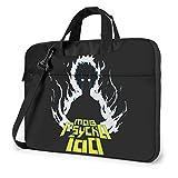 XCNGG Mob Psycho 100 Anime Laptop Hombro Messenger Bag Tablet Computadora Almacenamiento Mochila Bolso 15.6 Pulgadas