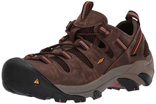 KEEN Utility Men's Atlanta Cool Steel Toe Work Shoe, 11 D US, Shitake Brown/Black, 11D