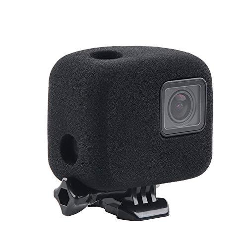 Alloggiamento antivento in schiuma per GoPro Hero 7/6/5, nero, protezione per la riduzione del rumore, per registrazione audio e video all'esterno