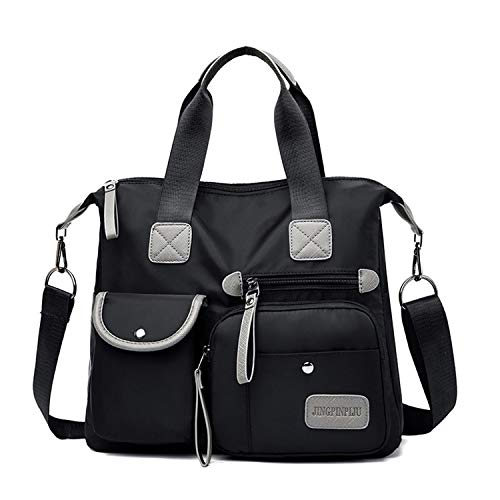 41b4PzdjygL DURABLE CONSTRUCTION: Constructed out of top quality polyester fabric, updated the shoulder strap, buckles, metal fasteners, and zippers to ensure long lasting performance. Implemented with strong reinforced seams for added strength and durability MULTI POCKETS: The multi-pocket design houses everything you need for work or school. The front zipper compartment is designed with built-in keychain and pen case, while the 2 exterior pockets hold cell phones, chargers, earphones, power banks or other small items. ADJUSTABLE CROSSBODY STRAP: Have a comfy shoulder strap ,Carry your handbag securely thanks to the fully adjustable strap. Wear it on your shoulder or across your body.