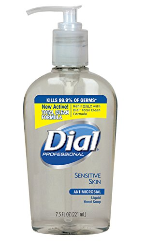 Dial Professional 82834 Liquid Dial Antimicrobial Soap For Sensitive Skin Decorative Pump 7.5 Oz. (Case of 12)