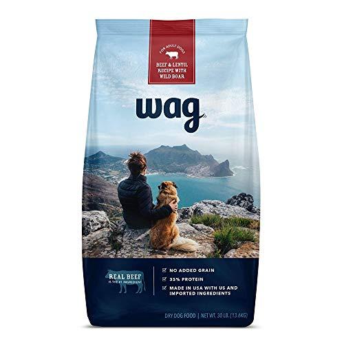 Amazon Brand - wag Dry Dog Food Beef & Lentil Recipe with Wild Boar (30 lb. Bag)