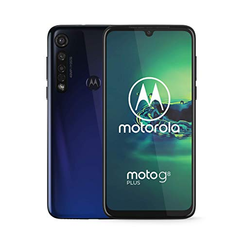 Moto G8+ Plus | Unlocked | International GSM only | 4/64GB | 25MP Camera | 2019 | Blue
