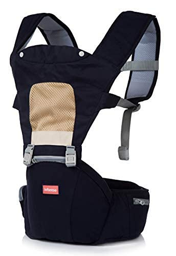 INFANTSO 4-in-1 Adjustable Hip SEAT Baby Carrier Soft & Comfortable with Safety Belt, Multi-Utility...