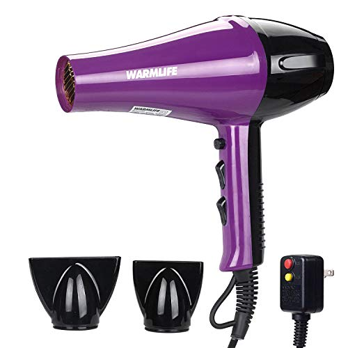 Warmlife Blow Dryer AC Motor Professional Salon Hair Dryers with Diffuser&Concentrator, Hair Dryer ETL Certification 1875w