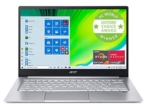 Acer Swift 3 Thin & Light Laptop, 14' Full HD IPS, AMD Ryzen 7 4700U Octa-Core with Radeon Graphics, 8GB LPDDR4, 512GB NVMe SSD, WiFi 6, Backlit KB, Fingerprint Reader, Alexa Built-in, SF314-42-R9YN