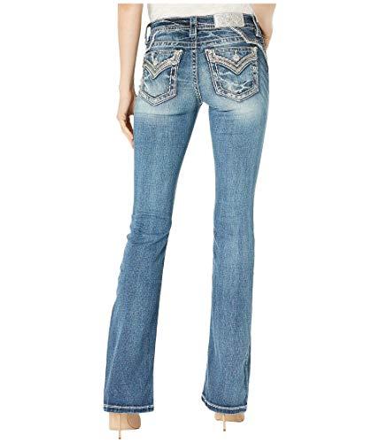 Miss Me - - Damen Mid Rise M3447B Chloe Boot Jeans, 25, Dark Blue