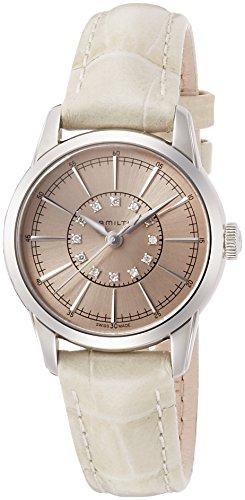 Hamilton Damen Analog Quarz Uhr mit Leder Armband H40311821