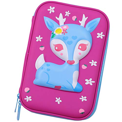 Cute Baby Deer Hardtop Pencil Case multi-funzionale grande capacit penne di matita colorazione...