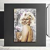 Kunstgestalten24 Lienzo decorativo de Marilyn Monroe Coco Pop Art para pared de...