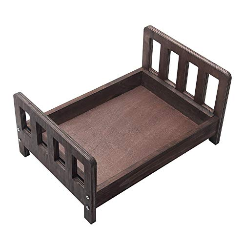 Baby Photography Props Wooden Bed, Detachable Cot Newborn Photo...