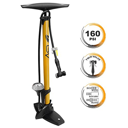 BV Bicycle Ergonomic Bike Floor Pump with Gauge & Smart...