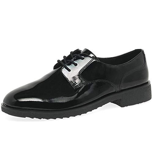 Clarks Griffin Lane, Zapatos de Cordones Derby para Mujer, Negro (Black Pat Black Pat), 40 EU