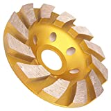 Meacase 4 inch Diamond Cup Grinding Wheel for Concrete Masonry Granite Marble Stone for Angle Grinder with 7/8' or 5/8' Arbor