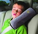 HONG Car Seat Belt Shoulder Cover Baby Infant Child Shoulder Pillow Car Plush Pillow Cartoon Shoulder Strap (Gray)