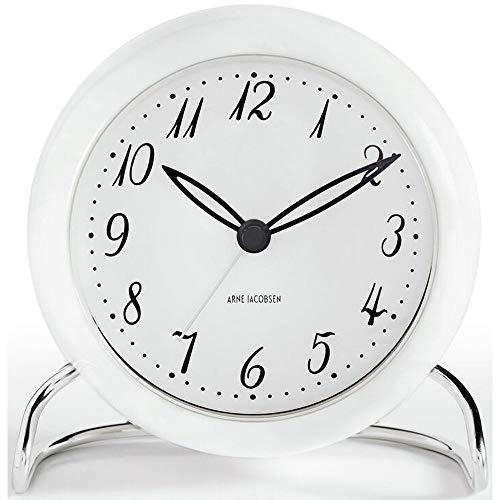 Arne Jacobsen Orologio da Tavolo, Bianco, 7.5x15.5x16.5